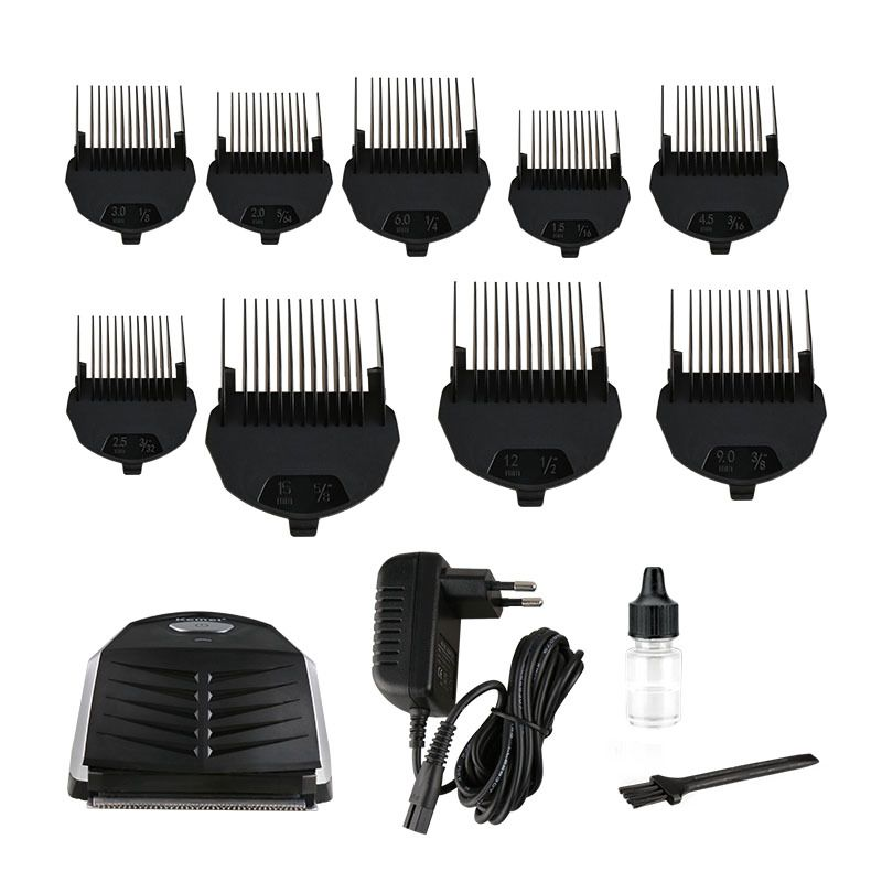 KEMEI KM-6032 Clipper Electric Hair Trimmer Professional for Men Shaver Hair Cutting Machine With 9 x Trimming Comb kemei km 173 led adjustable temperature ceramic electric tube hair curler