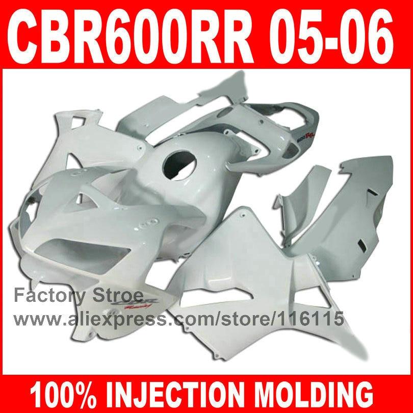 Injection Molding for HONDA CBR 600RR 2005 2006 CBR600RR fairings kit 05 06 full white race road fairing sets