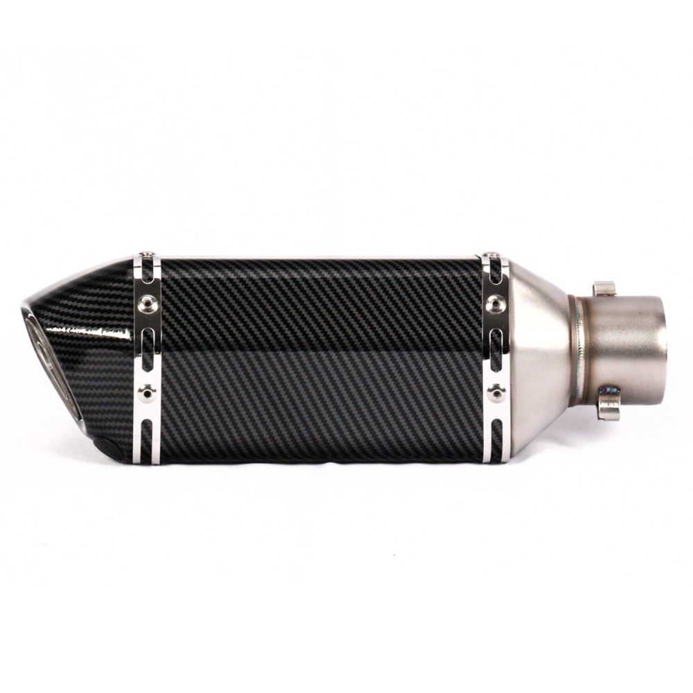 Image 3 - 51MM Unversal Motorcycle Exhaust Pipe With Muffler Moto Bike Escape For Yamaha Honda KTM Kawasaki Ducati Length 370mm-in Exhaust & Exhaust Systems from Automobiles & Motorcycles