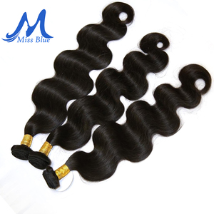 Image 4 - Missblue 3 Bundles With Closure Peruvian Hair Weave Bundle With Lace Closure Body Wave 100% Remy Human Hair Bundles With Closure