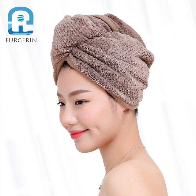 FURGERIN Hair Cap Dryer shower cap towels Absorbent Caps for Women Soft  Bath Hat hair bonnet for sleeping Hot Tub Accessories 632b2b779d1
