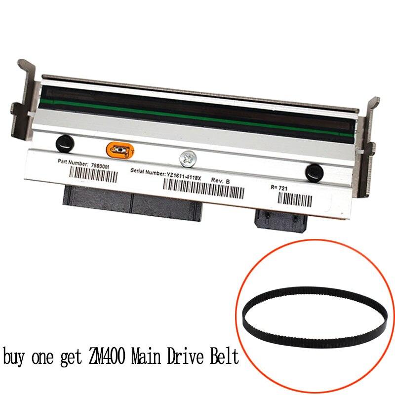 buy one get Main Drive Belt print head For zebra ZM400 200dpi Thermal barcode printer