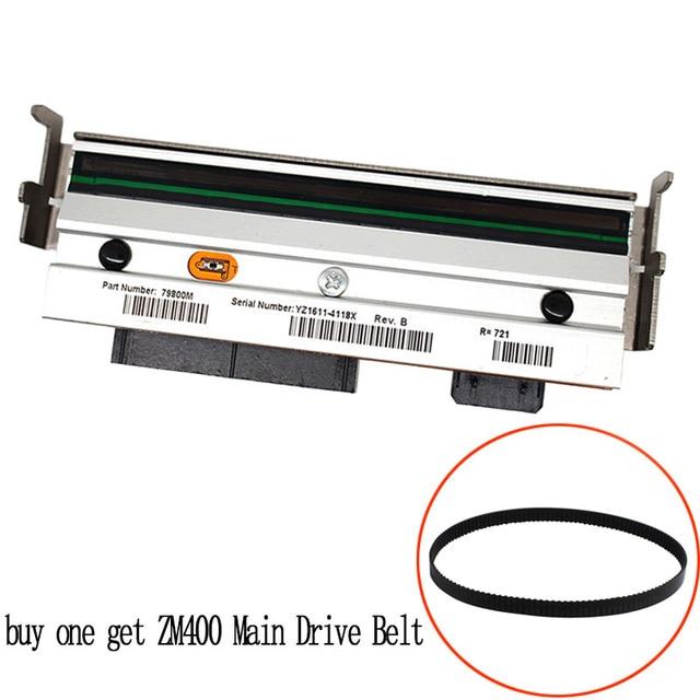 (شراء واحدة الحصول على آلة القيادة الرئيسية حزام)  طباعة رئيس ل زيبرا ZM400 200 ديسيبل متوحد الخواص طابعة باركود حرارية رأس الطباعة PN 79800M متوافق