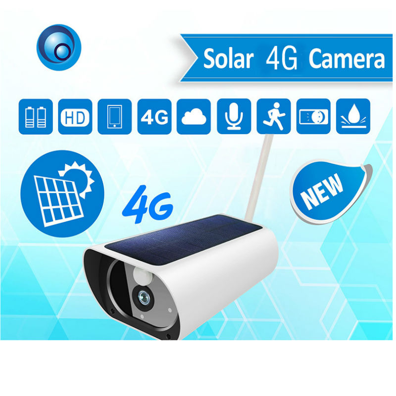 Yobang 2.0MP 1080P Solar Power 4G Camera Metal Case Security Surveillance Camera System HD Outdoor Waterproof IP67 IP Camera