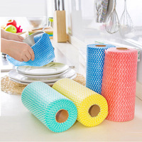 50pcs Set Throwaway High Efficient Anti Greasy Bamboo Fiber Hand Washing Dish Cleaning Cloth And Wiping
