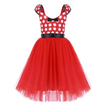 Cute Minnie Dress for Girls Baby Kids Mickey Mouse Cosplay Fancy Dress Up Polka Dot Tulle Girl Dress Birthday Minnie Mouse Dress posh dream mickey cartoon kids girl dress for cosplay pink and hot pink dot minnie girl tutu dresses flower girl cosplay dress