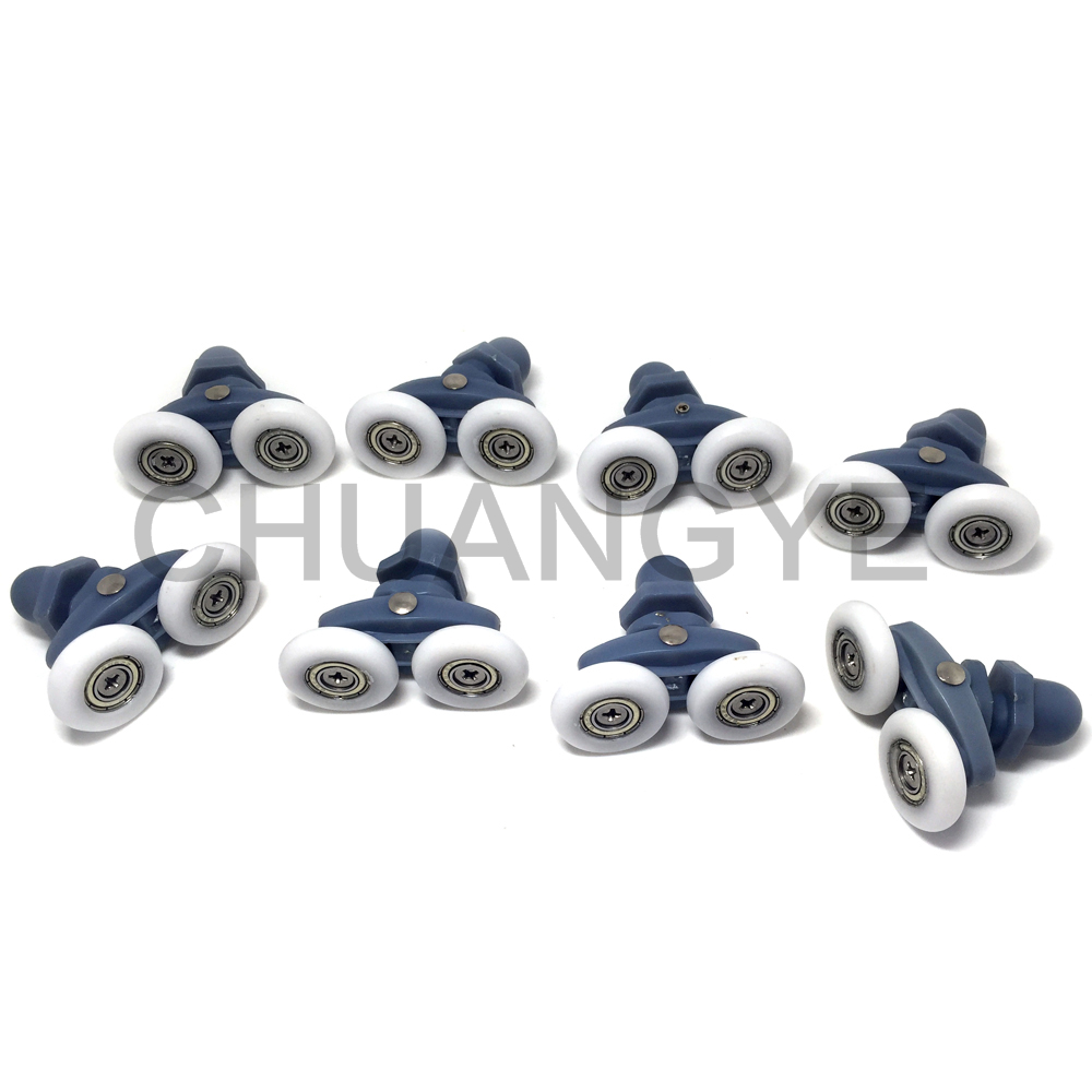 8 Shower Door ROLLERS / Runners / Pulleys / Wheels bathroom Replacement Parts 25mm