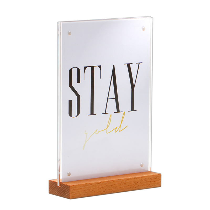 Fashion Style 2 Units Prexiglass Magnet Acrylic Frame Desk Sign Menu Price Tag Display Label Holders Advertising Poster Photo Picture Frame Pure White And Translucent Desk Accessories & Organizer Card Holder & Note Holder