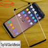 Top Full Glue Adhesive Tempered Glass For Samsung Galaxy S8 S8 Plus Full Gum Case Friendly