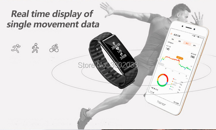 New original HUAWEI glory Glory play Bracelet A2 Running time, exercise, heart rate monitoring For Android xiaomi Bracelet 2 IOS 8