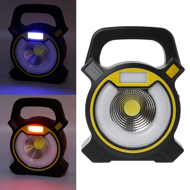 Купить с кэшбэком 10W USB Rechargeable COB Work Light Portable LED Floodlight Outdoor Lantern Camping Flashlight