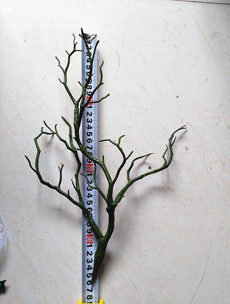 3 шт. 36 см Manzanita сухое искусственное растение ветка дерева Топиарий Поддельные Листва Свадебный дом мебель Декор зеленый белый