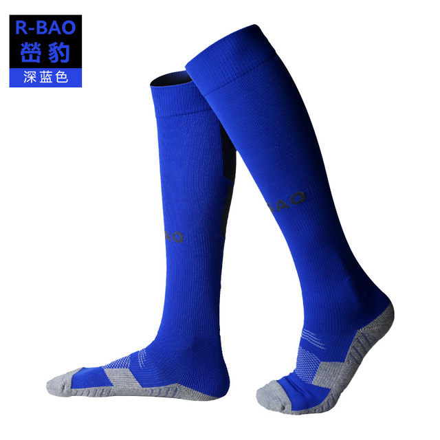 RB6603 R-BAO New Style Adult Terry Sole Soccer Socks High-quality Protect Ankle and Calf Football Socks 3pairs=1Lot