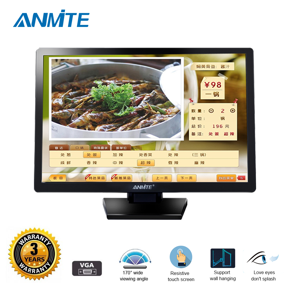 Anmite 22 TFT сенсорный жкд ПК дополнительный Резистивный/емкостный сенсорный дисплей