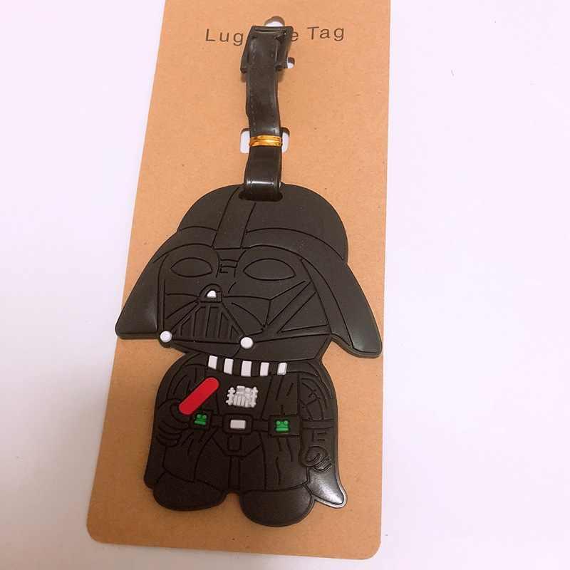 Anime dos desenhos animados de Star Wars PVC chaveiros cos preto cavaleiro tempestade soldados figura moda novidade bagagem tag Jóias lembrança do turista