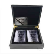 Birthday Souvenir Gifts Usd 100 Dollar Silver Double Playing Card In Wooden Box Personalized