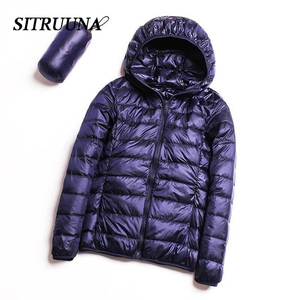 Image 2 - Sitruuna Down jacket women 95% duck down coat Ultra Light warm Female Solid Portable stand collar down jacket winter