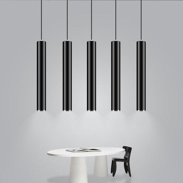Moderne Zwart Wit Dia 6 CM Cilinder LED Hanglamp Keuken Eiland ...