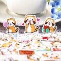 40pcs Self-made Cute Cartoon Small Raccoon Scrapbooking Stickers DIY Craft DIY Sticker Pakc Photo Albums Deco Diary Deco