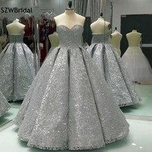 Photo réelle nouvelle arrivée robe de bal robe de soirée 2020 arabie saoudite robe de soirée séquine dentelle robe formelle caftan soirée
