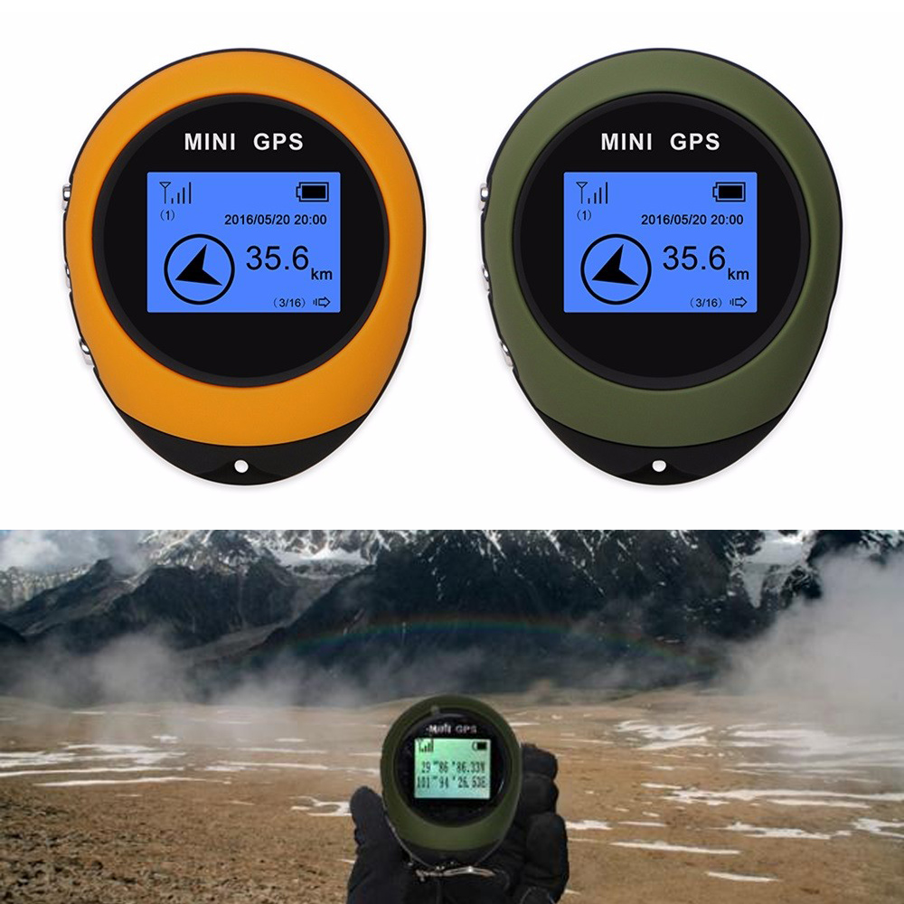 Mini GPS Portable Handheld Keychain Tracker USB Rechargeable Location Compass For Outdoor Travel Climbing Universal