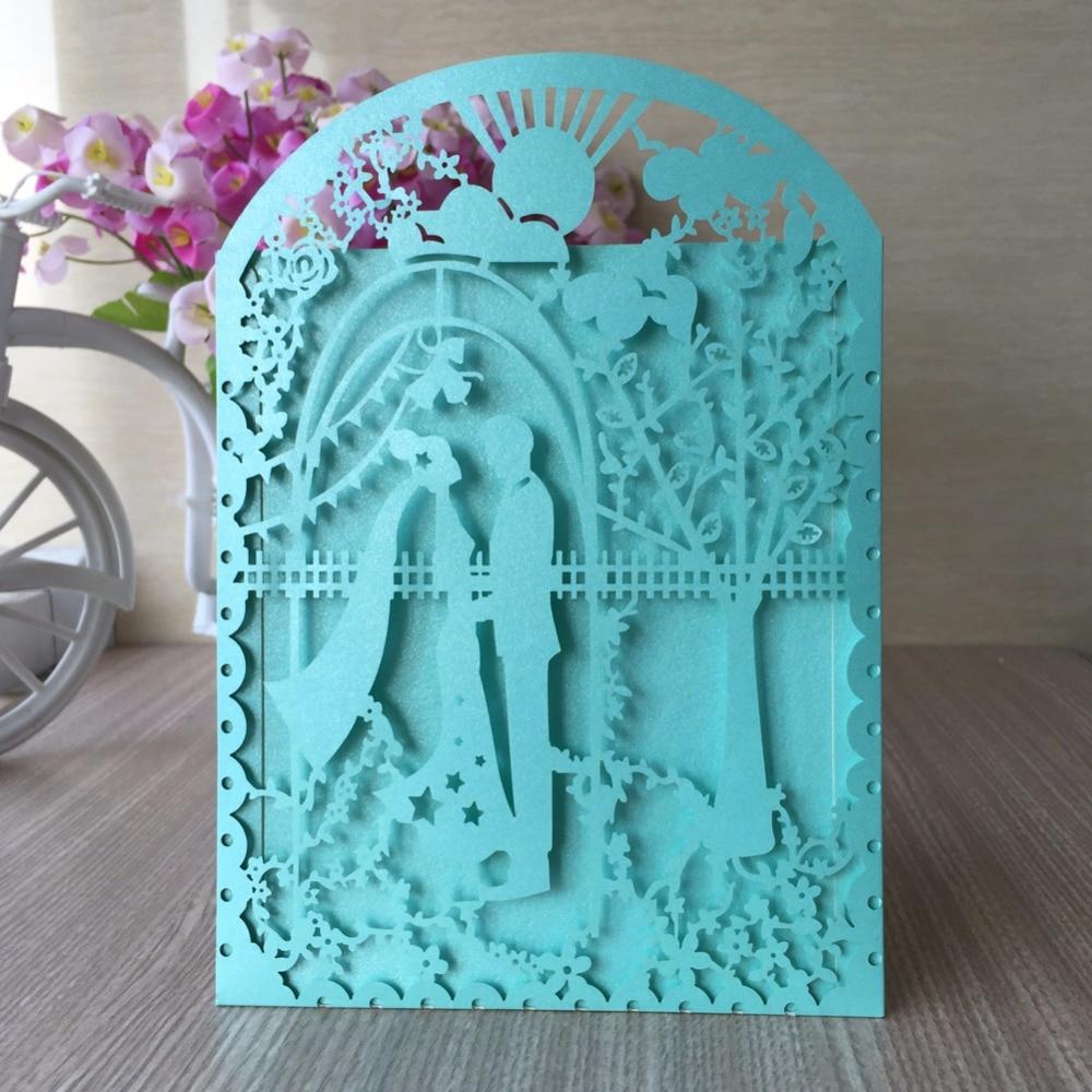 Cheap Blue Wedding Invitations: Popular Tiffany Blue Wedding Invitations-Buy Cheap Tiffany