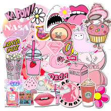 50pcs Farm Elf Peach Blossom Jun Pink sticker graffiti sticker DIY sticker suitcase laptop bicycle refrigerator car snowboard(China)