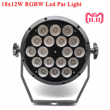LED Par 18x12W RGBW Led Stage Light Par Light With DMX512 for disco DJ projector machine Party Decoration SHEHDS Stage Lighting стоимость