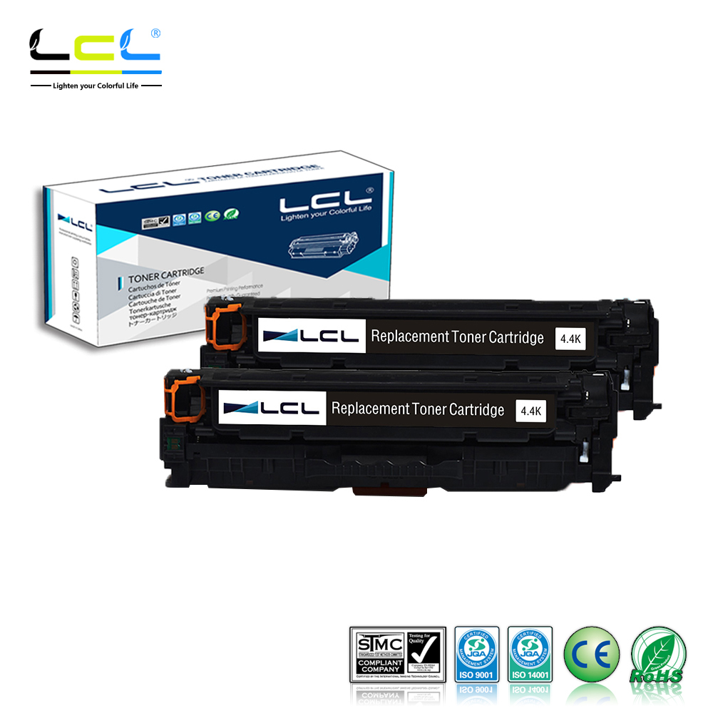 LCL 312X 312A CF380X CF380A cartouche de Toner 4400 Pages (noir 2 paquets) Compatible pour HP couleur LaserJet Pro M476dn MFP/M476dw MFP