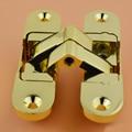 Folding door hinge 110*29 gold three dimensional Adjustable Invisible Door Hinges 2pcs