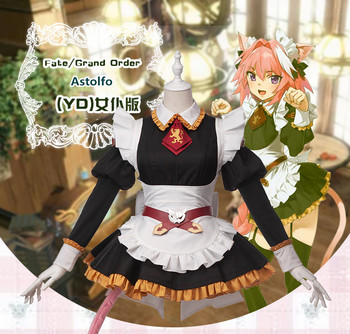 Anime! Fate Grand Order Astolfo  YD Maid Dress Lovely Sexy Uniform Cosplay Costume For Halloween Female Outift Free Shipping