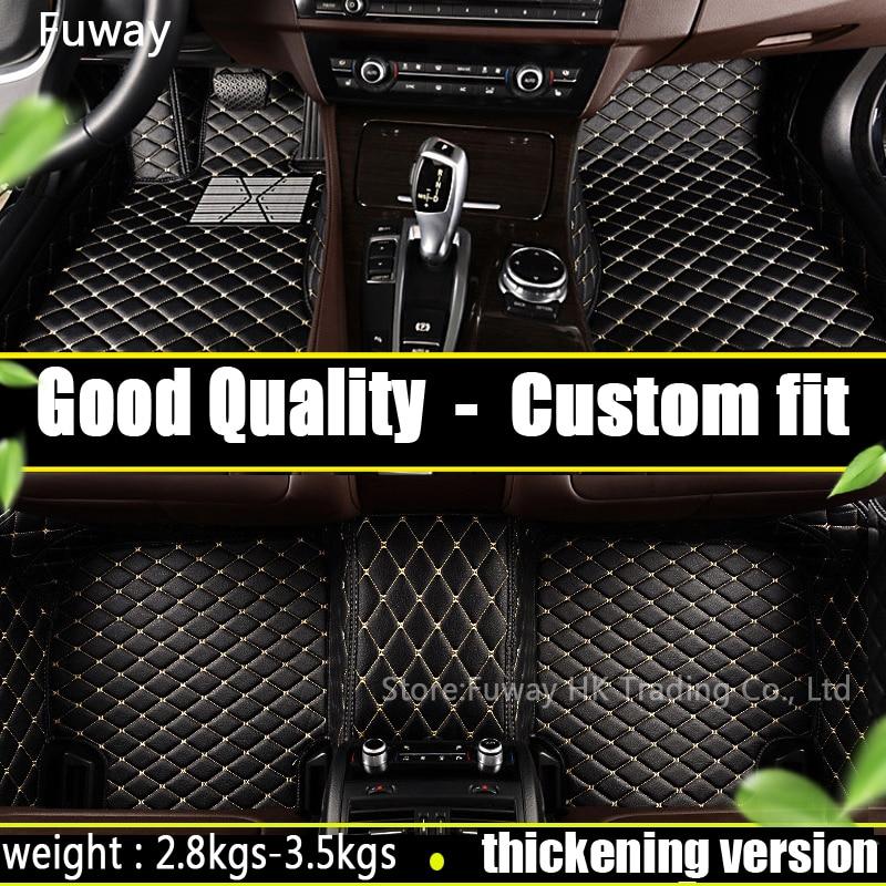 Car Floor mats For Mitsubishi Pajero sport V73 V93 ASX Lancer EX Outlander EX Galant Grandis Car Foot mats Custom carpets rugs custom fit car floor mats for mitsubishi lancer pajero sport v73 v93 3d car styling all weather carpet floor liner ry207
