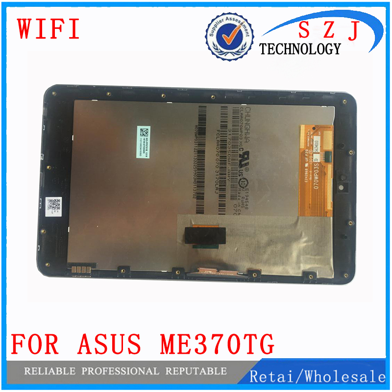 New 7 inch For Asus Google Nexus 7 ME370T ME370TG ME370 Wifi Ver LCD Display Touch Screen Digitizer Sensore with Frame Assembly 5pcs lot 100% original new display screen lcd assembly with frame for lg nexus 5 d820 d821 lcd black