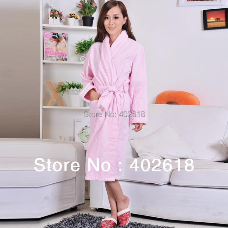 1PCS/Lot New 100% Cotton Robes Ladies Bathrobe, Dressing gown, Size ...