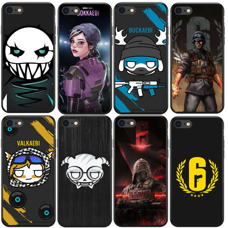 rainbow six siege phone cases silicone TPU Black covers For iPhone ...