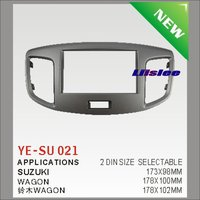 Liislee 2 DIN ABS Plastic Frame Radio Fascia For Suzuki Wagon Auto Stereo Interface Dash CD Trim Installation Kits