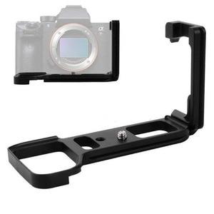 Image 2 - שחרור מהיר L צלחת אחיזת יד מחזיק Bracket עבור Sony Alpha A9/A7 III/A7R III A7M3 A7RM3 מצלמה עבור Arca שוויצרי חצובה ראש