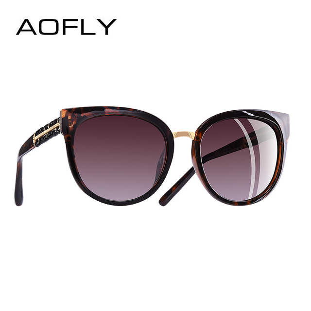 AOFLY BRAND DESIGN Hand Made Luxury Cat Eye Sun glasses For Women Polarized Sunglasses Goggles UV400 A138