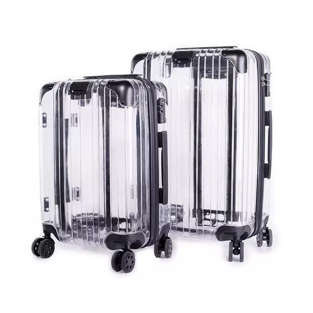20 24 Inch Brand Rolling Luggage Box And Travel Bags Carry On Hand Trolley Suitcase 4 Wheels Spinner Transpa Bag In From