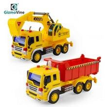 GizmoVine Big Dump Truck Model Toy Inertial Engineering Lift Music Light For Kids Scale oyuncak Child Playset