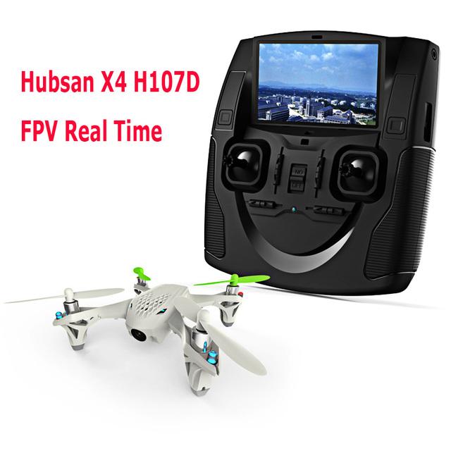 Hubsan X4 H107D + FPV RC Quadcopter drone cámara HD LCD Transmisor de Video En Vivo de Audio Streaming Grabación helicóptero VS V686G X350