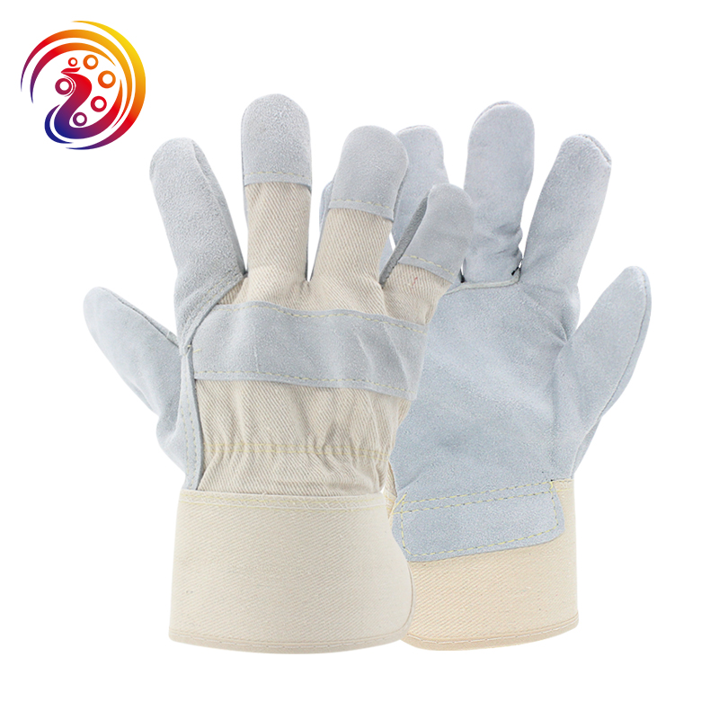 OLSON DEEPAK Cow Split Leather Transport Driving Gardening Carrying Factory Protective Work Gloves HY028 Free Shipping long yi and zhen shuang fu jade bracelet to help transport carrying 8000050 mascots