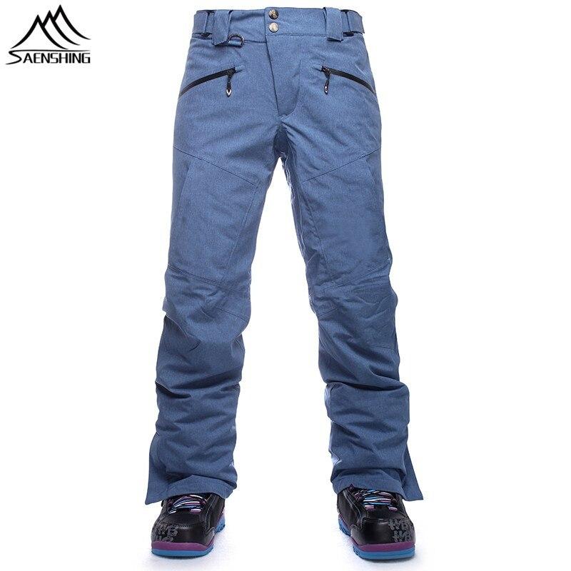SAENSHING Ski Pants Men Waterproof Snowboard Pants for Mountain Skiing Snowboarding Outdoor Sports Wear Winter Male Trousers