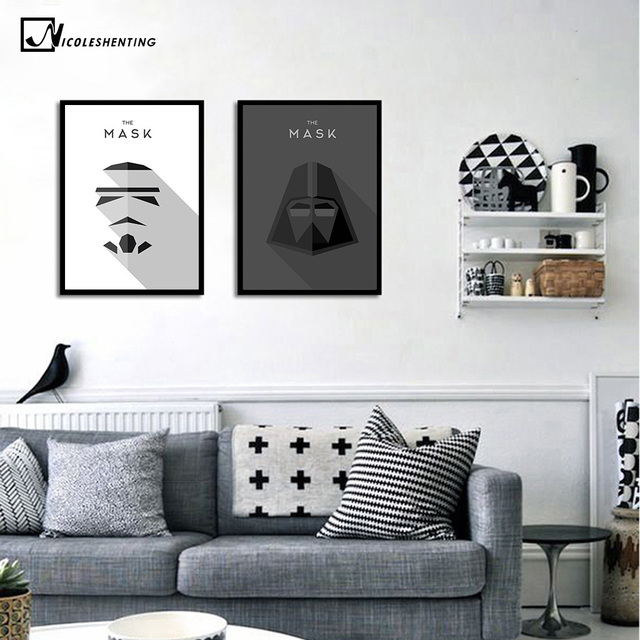 Star Wars 7 Minimalist Art Canvas Poster Painting Darth Vader Stormtrooper Movie Wall Picture Print Home Room Decoration 337