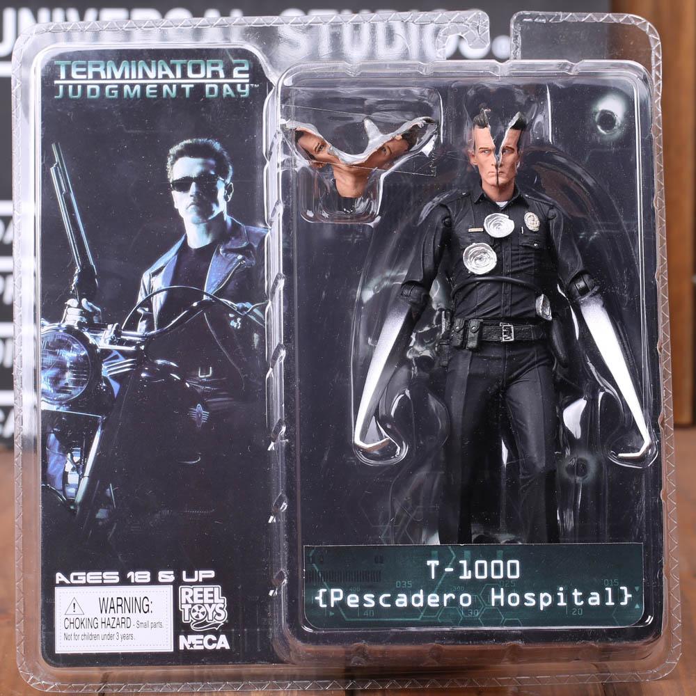 1 Pcs 7 18 CM Classic Movie NECA The Terminator 2 T-800 Arnold Schwarzenegger PVC Action Figure Collectible Model Toy 7 Styles