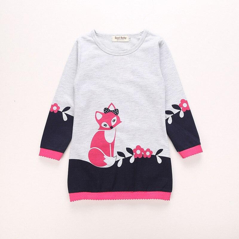 Autumn Princess Dress Robe Enfant Girl Dress Kids Clothes 2017 Baby Tunic Appliques Girls Jersey Dresses Children