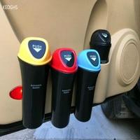 Red Black Yellow Green Blue Car Styling Car Trash Bin Auto Trash Can Garbage Storage Bucket