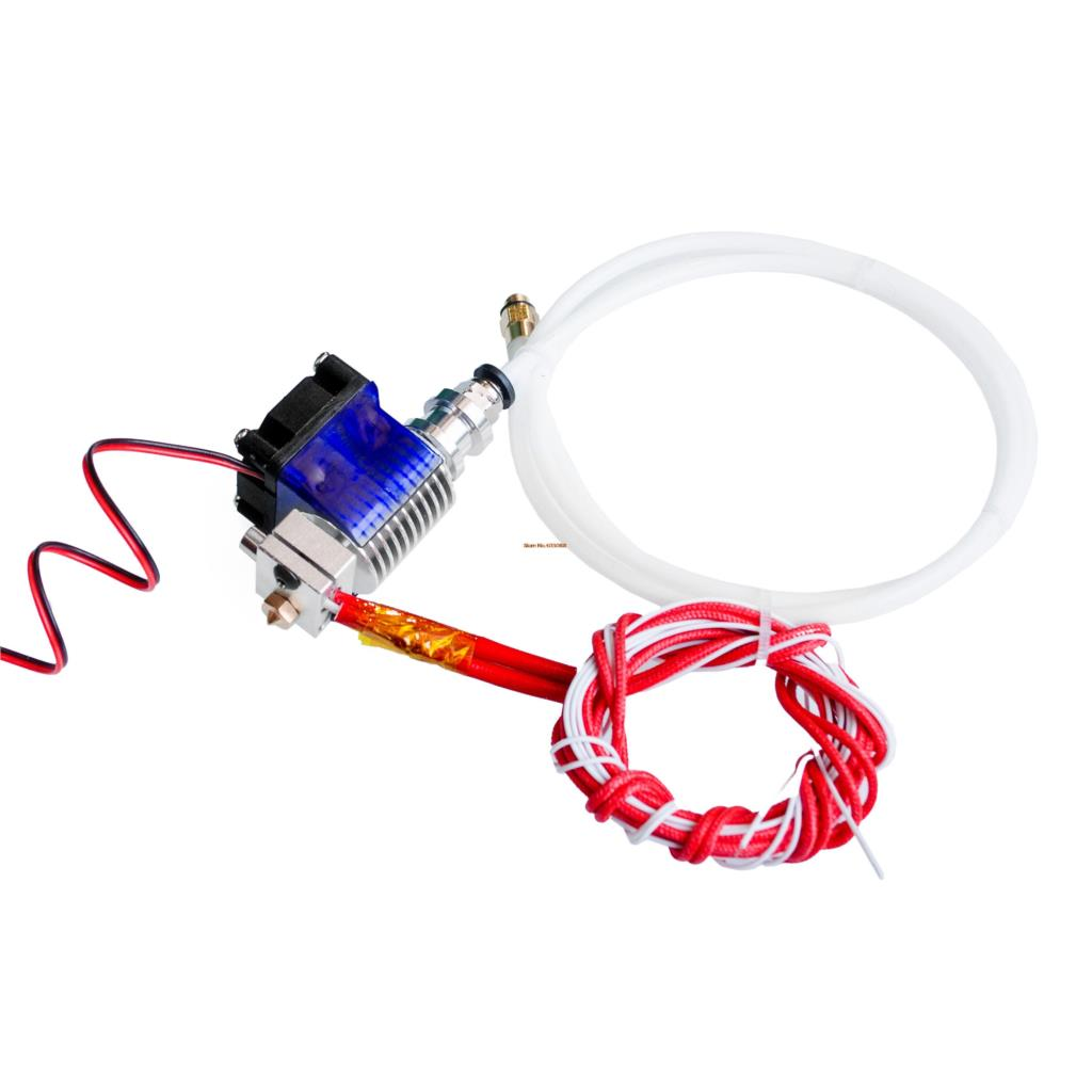 E3D V6 Hot End Full Kit 1.75mm 12V Bowden/RepRap 3d printer extruder parts accessories 0.2/0.3/0.4/0.5mm Nozzle