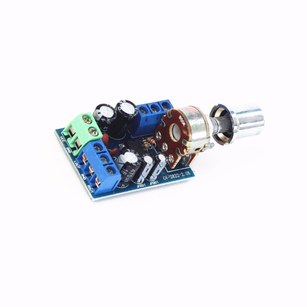 05w 10w Lm386 Audio Power Amplifier Board Dc 3v 12v 5v Mini Circuit With Ic Schematic Diagram 1pcs Tda2822m 1w2 18 20 Channel Stereo