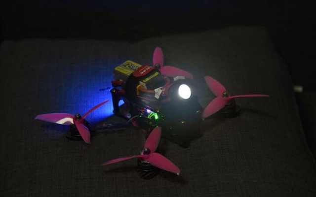 FPV Night flight aerial photography 3W large power LED light night vision lights for FPV multicopter drone RC model aircraft